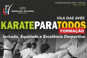 """Karate: """"Inclusão, Equidade e Excelência Desportiva"""""""