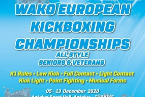 Kickboxing: Europeu adiado para dezembro